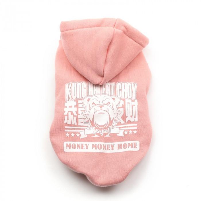 Свитер с капюшоном Cheepet, цвет розовый, размер L (длина спины 30 см)