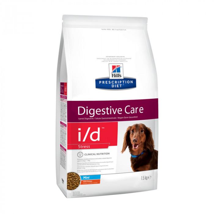 Корм Hill's Prescription Diet i/d Stress Mini Digestive Care для собак мелких пород для здоровья ЖКТ и при стрессе с курицей, 1.5 кг