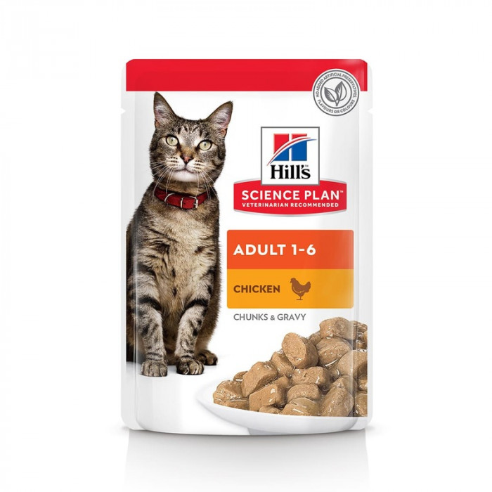 Корм Hill's Science Plan Optimal Care для кошек от 1 до 6 лет курица, 85г