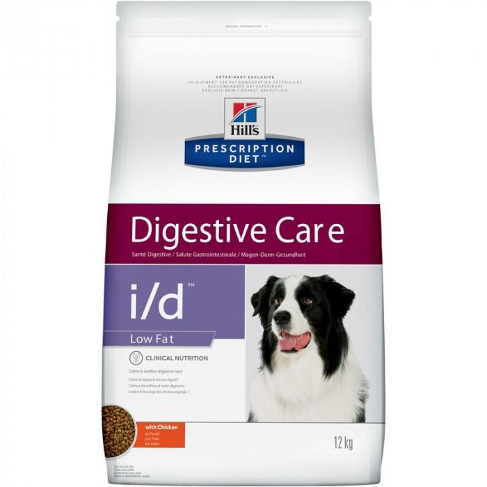 Корм Hill's Prescription Diet i/d Low Fat Digestive Care для собак диета для поддержания здоровья ЖКТ и поджелудочной железы с курицей, 12 кг