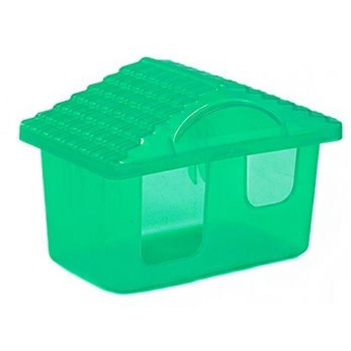 Домик для грызунов прозрачный малый 11см*8см*7см
