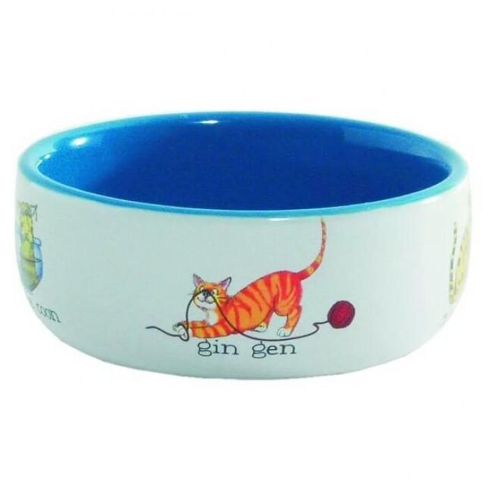 """Миска фарфоровая для кошек """"Играющие кошки"""", 325 мл"""