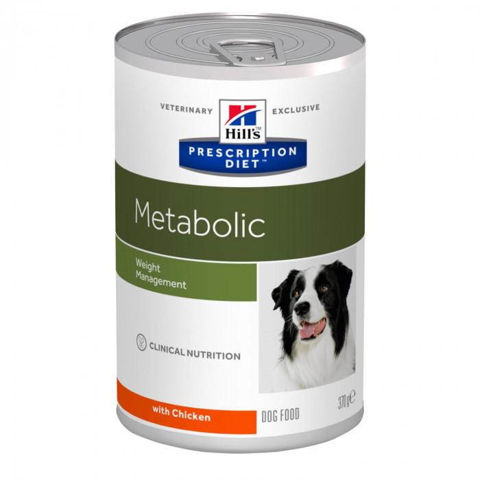 Корм Hill's Prescription Diet Metabolic Weight Management консервы для собак для поддержания оптимального веса с курицей, 370 г