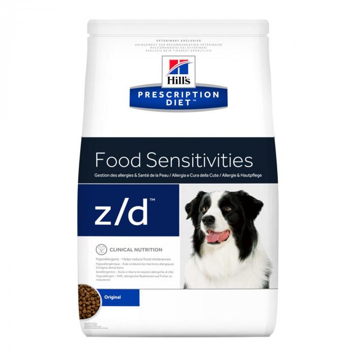 Корм Hill's Prescription Diet z/d Food Sensitivities для собак диета для поддержания здоровья кожи и при пищевой аллергии, 3 кг