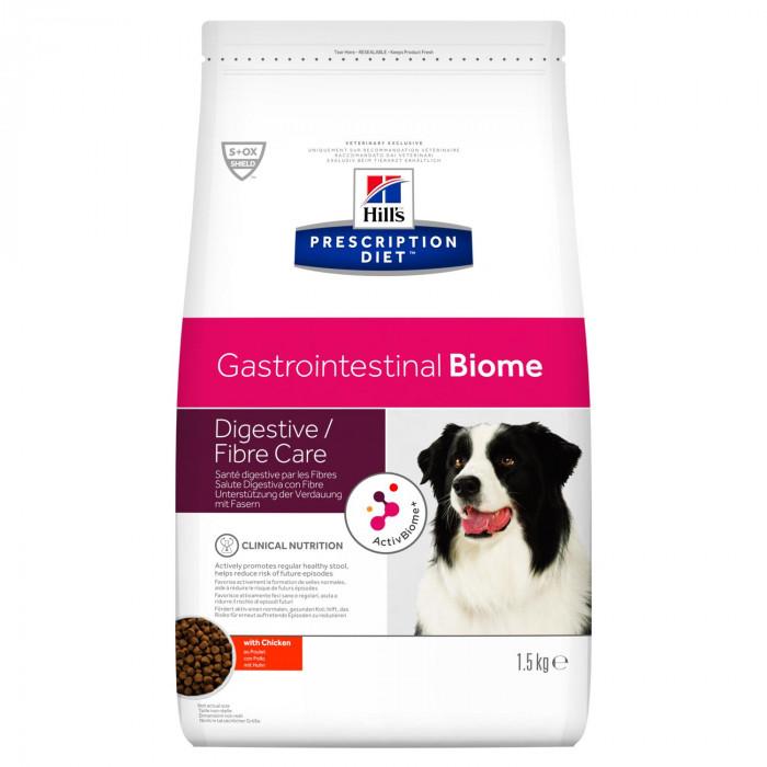 Корм Hill's Prescription Diet Gastrointestinal Biome для собак при расстройствах пищеварения и для заботы о микробиоме кишечника, c курицей, 1.5 кг