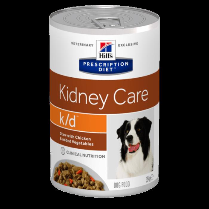 Корм Hill's Prescription Diet k/d Kidney Care (рагу) консервы для собак диета при лечении заболеваний почек, курица с овощами, 354 г