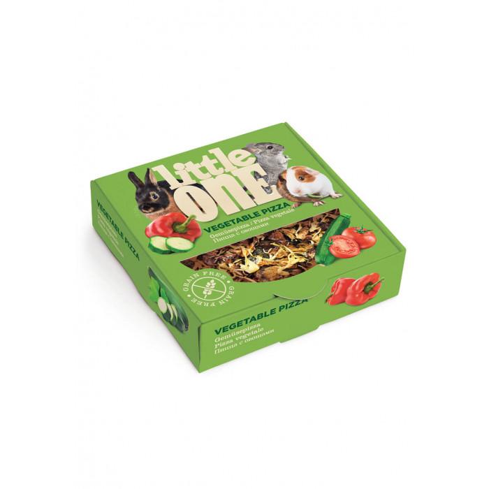 Little One Лакомство-игрушка Пицца с овощами для всех видов грызунов, 55 г