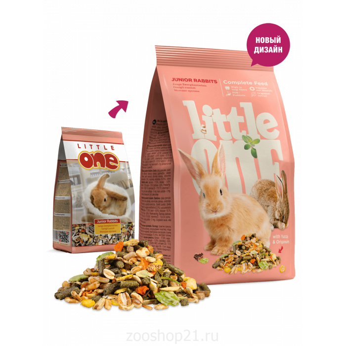 Little One Корм для молодых кроликов, 400 г
