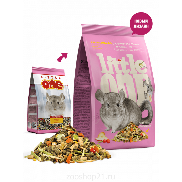 Little One Корм для шиншилл, 900 г