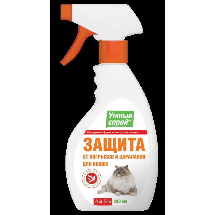 Умный спрей защита от погрызов и царапания для кошек, 200 мл