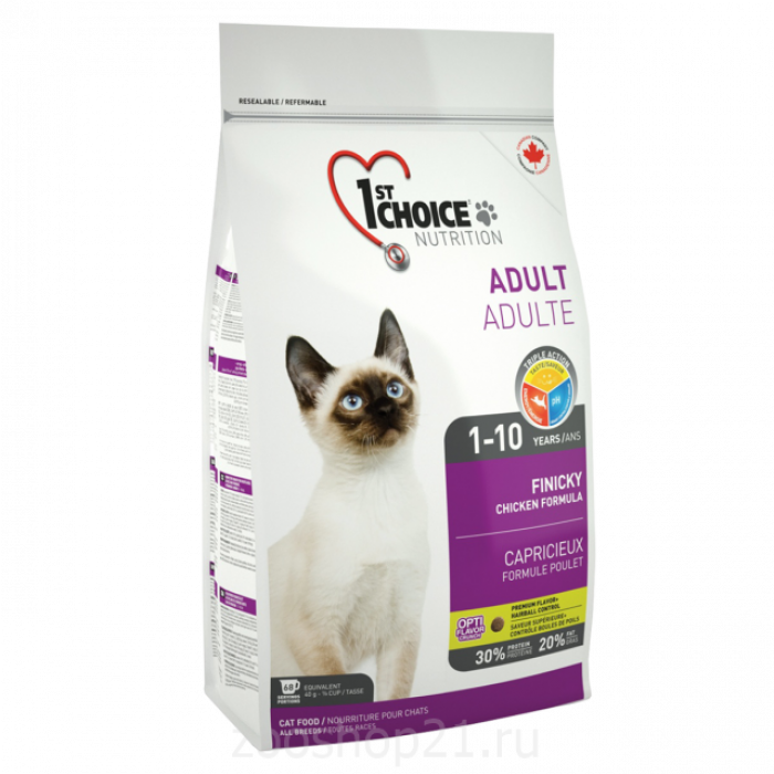 Корм 1st Choice для приверед. кошек (Finicky) , 2.72 кг