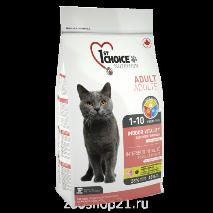 Корм 1st Choice для кошек курица (Vitality) , 2.72 кг