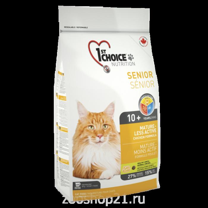 Корм 1st Choice для пожилых кошек (Mature or less active) , 2.72 кг
