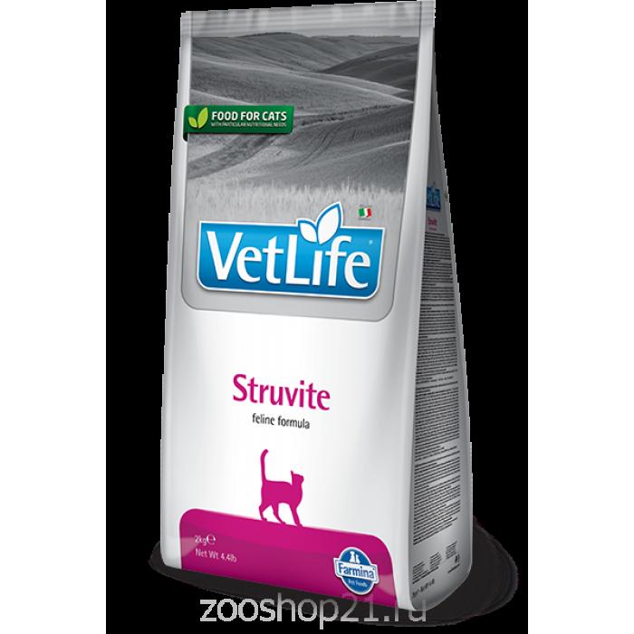Корм Farmina Vet Life Struvite для кошек при МКБ струвитного типа, 400 г