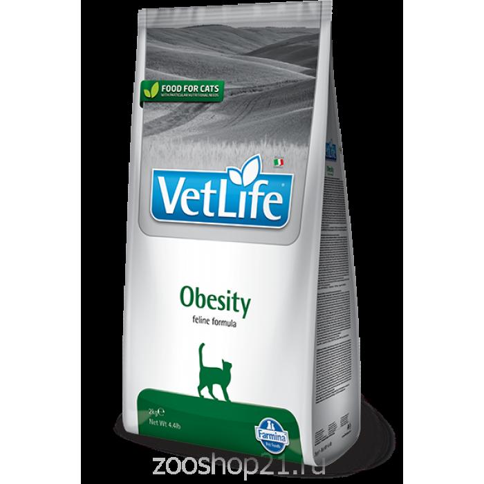 Корм Farmina Vet Life Obesity для кошек при ожирении, 10 кг