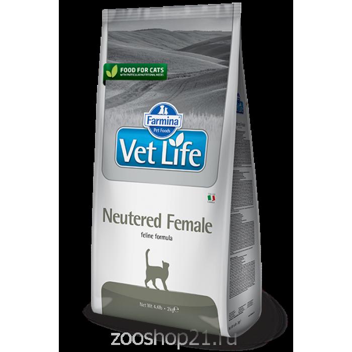 Корм Farmina Vet Life Neutered FEMALE для стерилизованных КОШЕК, 400 г