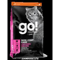 Корм Go! Skin & Coat Chicken для кошек с Цельной Курицей/фруктами и овощами, 7.26 кг