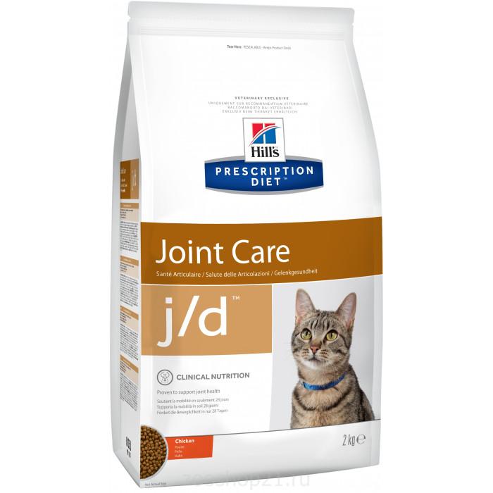 Корм Hill's Prescription Diet j/d Joint Care для кошек диета для поддержания здоровья суставов курица 2 кг