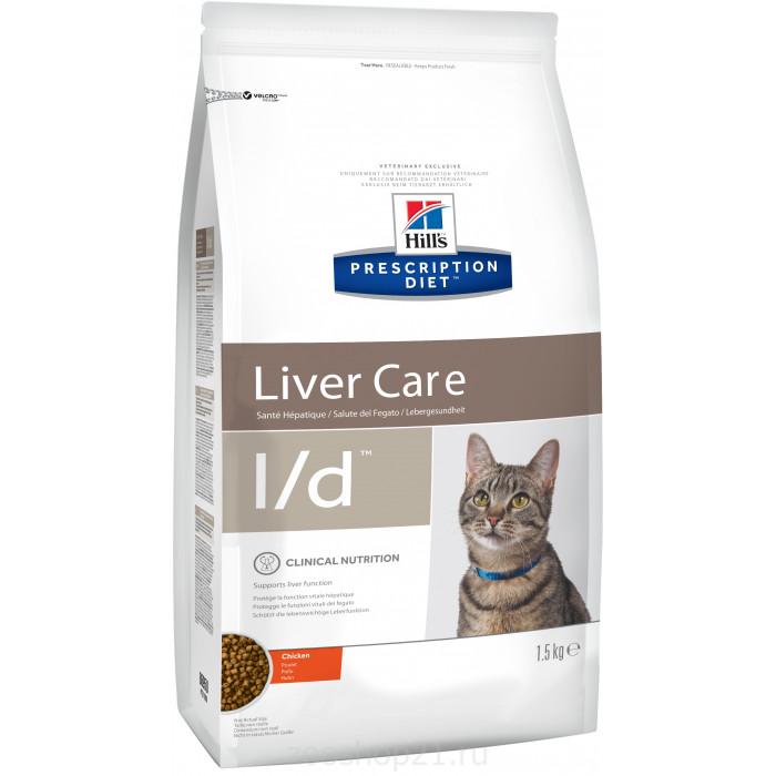 Корм Hill's Prescription Diet L/d Liver Care для кошек диета для поддержания здоровья печени курица 1.5 кг