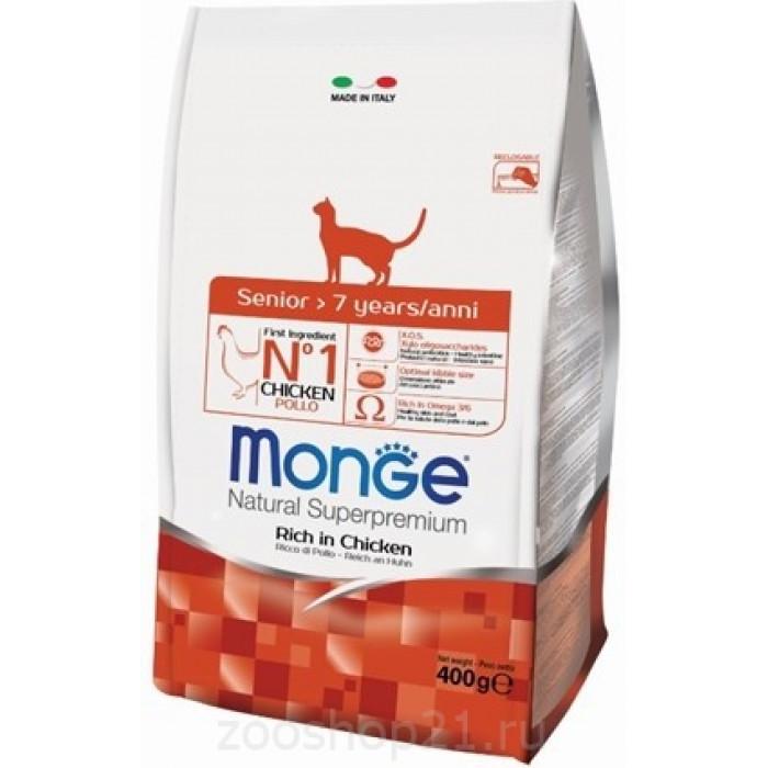 Корм Monge Cat для пожилых кошек, 400 г