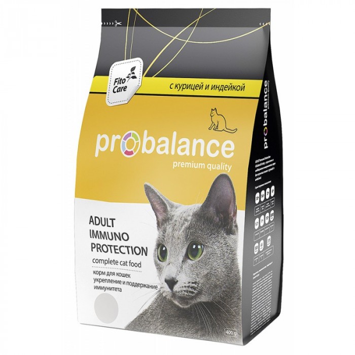Корм ProBalance для кошек Курица/Индейка, 400 г