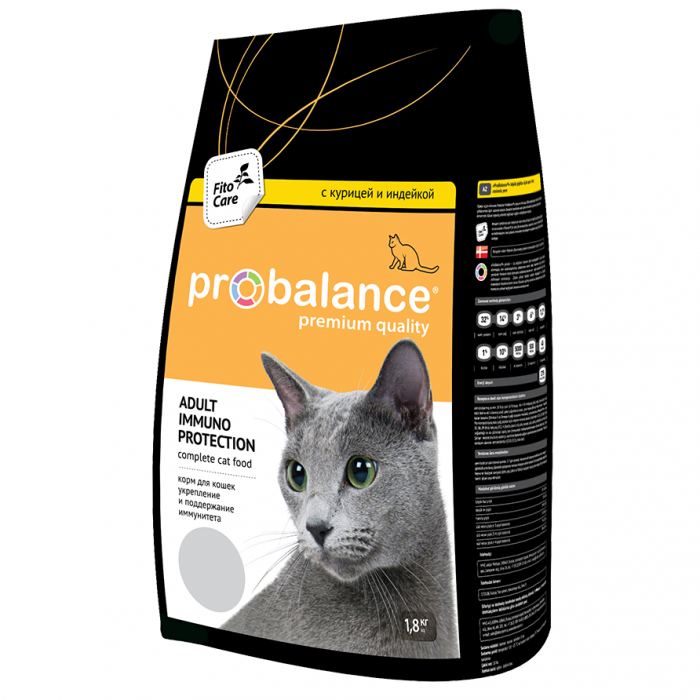 Корм ProBalance для кошек Курица/Индейка, 1.8 кг