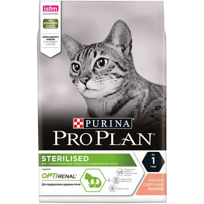 Корм Pro Plan Sterilised для стерилизованных кошек, с лососем 400 г