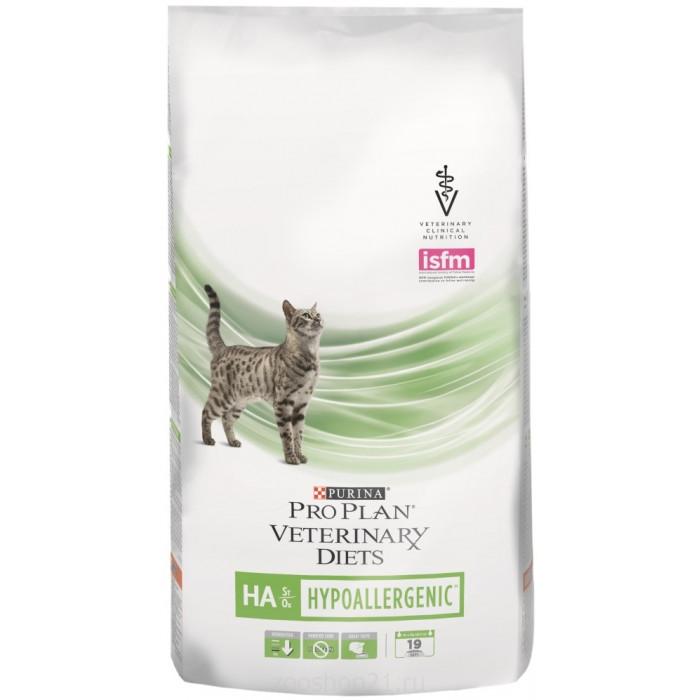 Корм Pro Plan Veterinary diets HA для кошек при аллергических реакциях, 1.5 кг