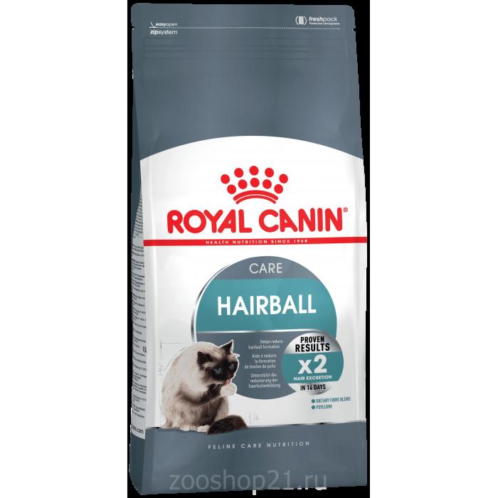 Корм Royal Canin Hairball Care для вывода шерсти, 2 кг