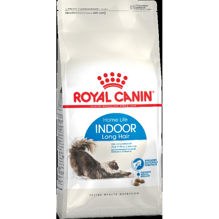 Корм Royal Canin Indoor Long Hair для длинношерстных кошек, 2 кг