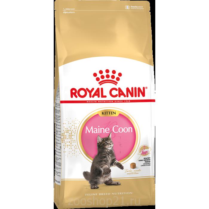 Корм Royal Canin Maine Coon Kitten для котят породы мейн кун 4-15 мес, 400 г