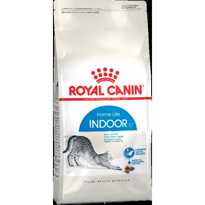 Корм Royal Canin Indoor для домашних кошек 1-7 лет, 2 кг