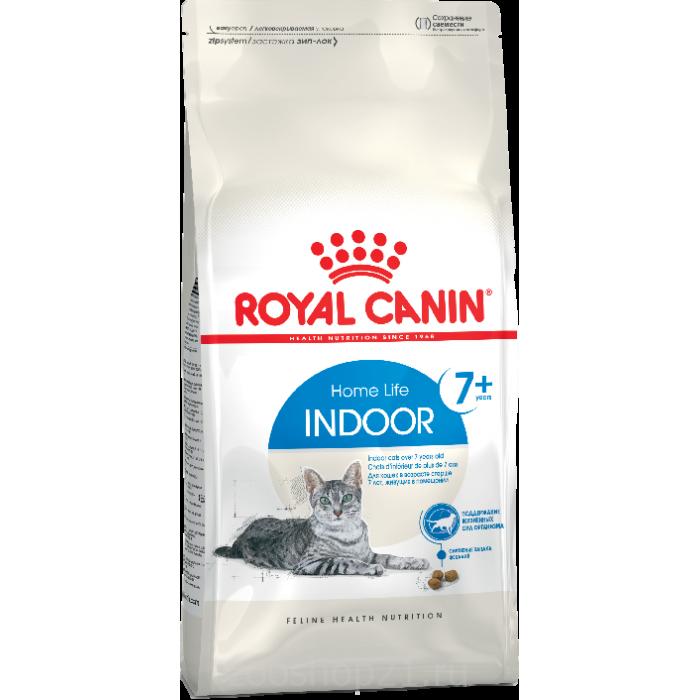 Корм Royal Canin Indoor 7+ для пожилых домашних кошек 7-12 лет, 400 г