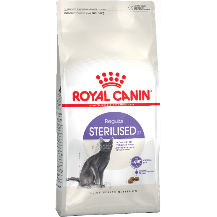 Корм Royal Canin Sterilised 37 для стерилизованных кошек 1-7 лет, 400 г