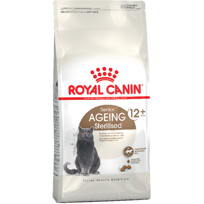 Корм Royal Canin Ageing 12+ STERILISED для стерилизованных кошек старше 12 лет, 400 г