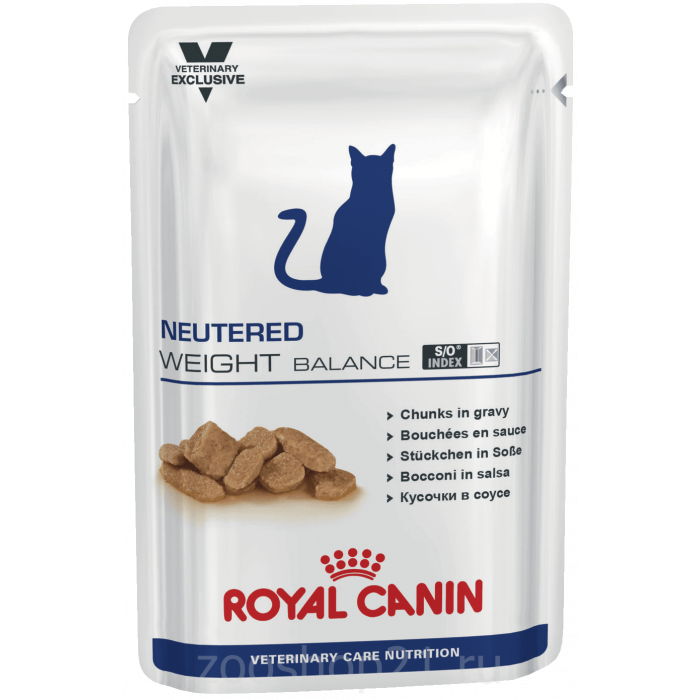 Корм Royal Canin Neutered Weight Balance (в соусе) для кастрированных котов и кошек с избыточным весом 1-7 лет, 100 г