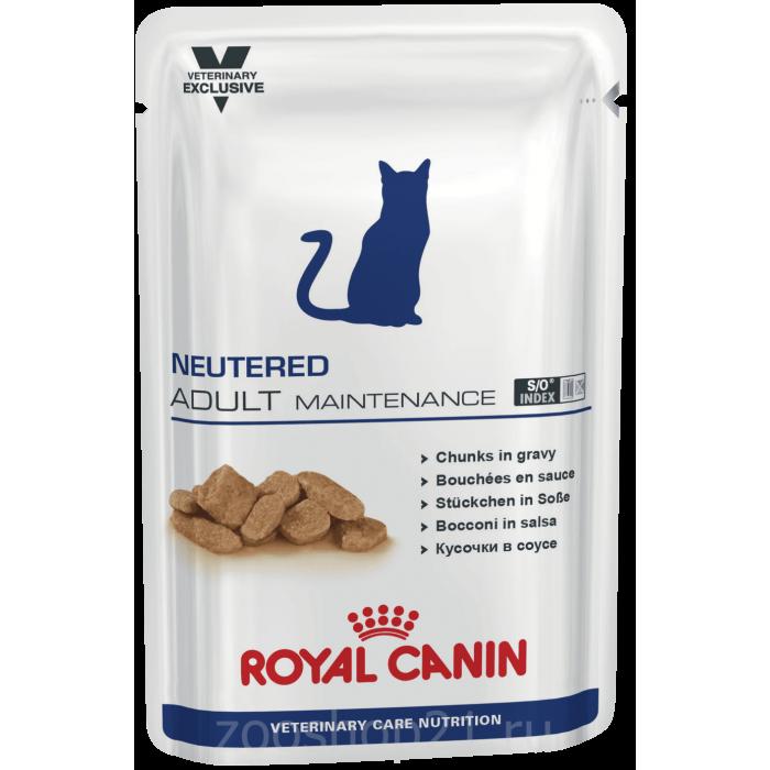 Корм Royal Canin Neutered Adult Maintenance для кастрированных котов и кошек c нормальным весом 1-7 лет, 100 г