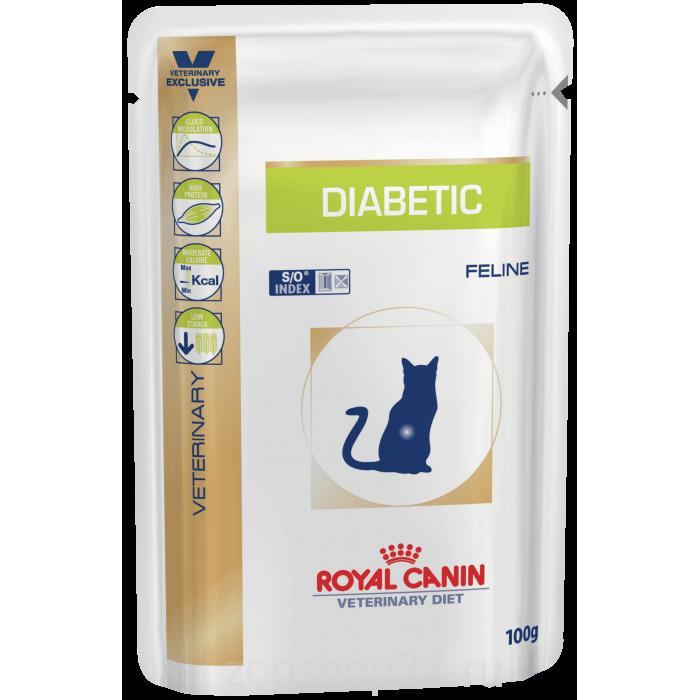 Корм Royal Canin Diabetic (в желе) для кошек при диабете, 100 г