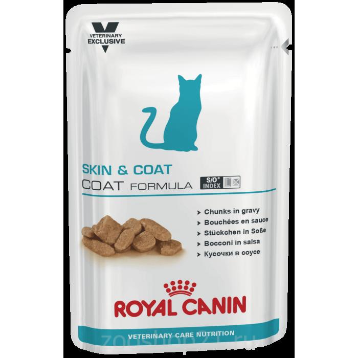 Корм Royal Canin Skin & Coat для кастрированных кошек с чувствительной кожей, 100 г