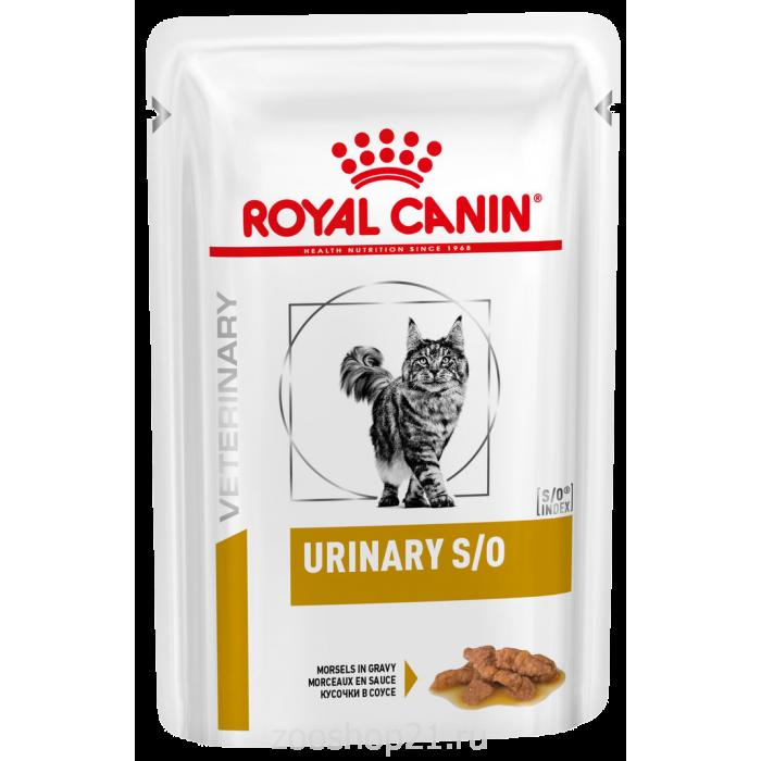Корм Royal Canin Urinary S/O (в соусе) для кошек при МКБ, с курицей, 85 г