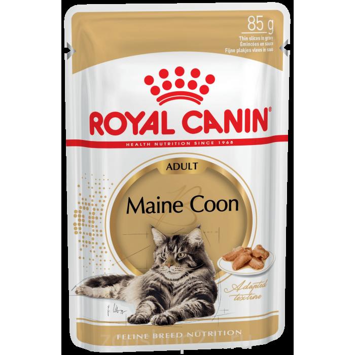 Корм Royal Canin Maine Coon Adult (в соусе) для породы мейн кун старше 15 мес., 85 г