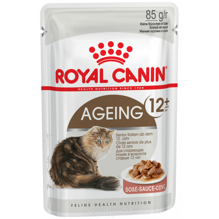 Корм Royal Canin Ageing 12+ (в соусе) для кошек старше 12 лет, 85 г