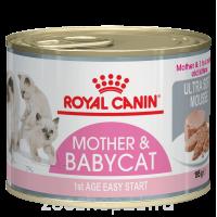 Корм Royal Canin Mother and Babycat (мусс) для котят до 4 мес. и беременных/кормящих кошек, 195 г