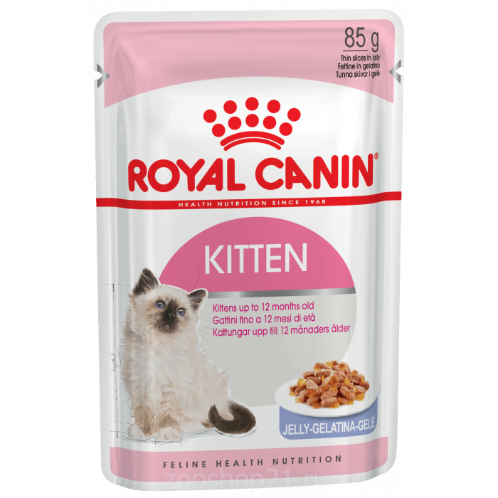 Корм Royal Canin Kitten (в желе) для котят от 4 до 12 мес., 85 г