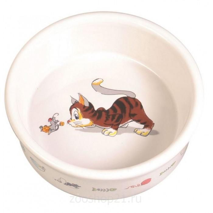 Миска керамическая для кошки, 200мл