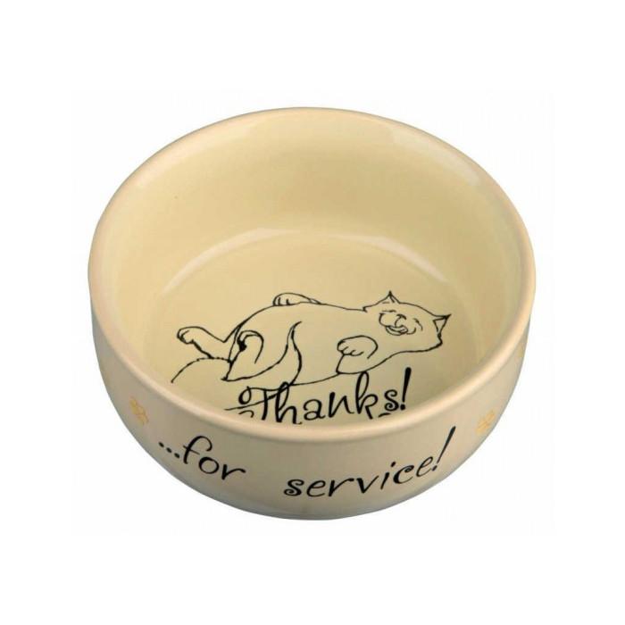 Миска для кошек Thanks for Service, керамическая, 300мл