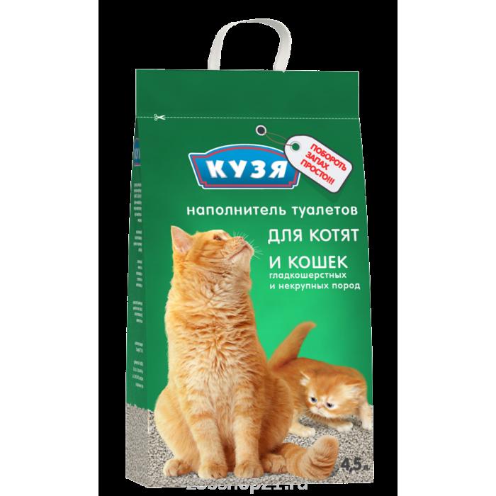 Кузя наполнитель для котят и короткошерстных пород 4.5 л
