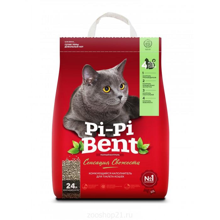 """Pi-Pi-Bent Комкующийся наполнитель """"Сенсация свежести"""" (пакет), 10 кг"""