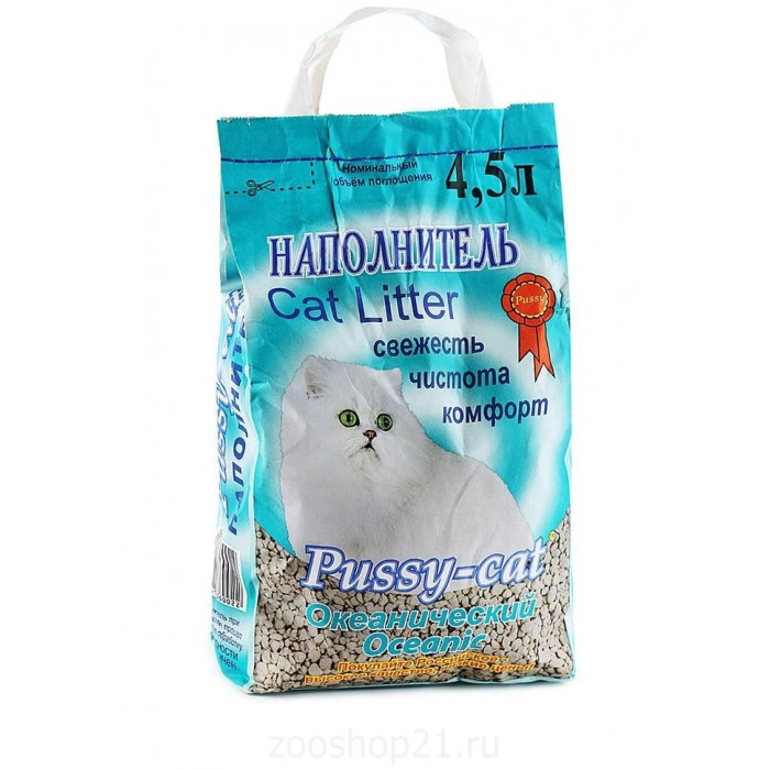 Pussy-Cat Впитывающий Океанический  наполнитель, 4.5 л
