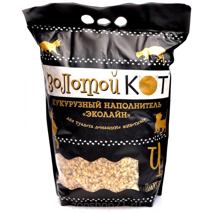 Золотой кот Кукурузный наполнитель, 3 л